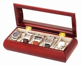 5 Uhrenbox Holz Uhrenschatulle Vitrine - 1
