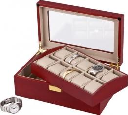 Auer Accessories Leda 110C Uhrenbox Für 10 Uhren Kirschholz Herausnehmbares Tablett - 1