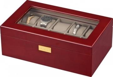 Auer Accessories Leda 110C Uhrenbox Für 10 Uhren Kirschholz Herausnehmbares Tablett - 3