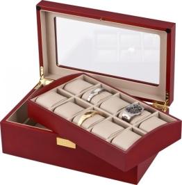 Auer Accessories Leda VS80110CM Uhrenbox Herausnehmbares Tablett - 1