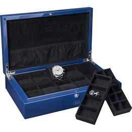 BECO BLUE Uhrensammlerbox für 8 Uhren und Schmuck - 1