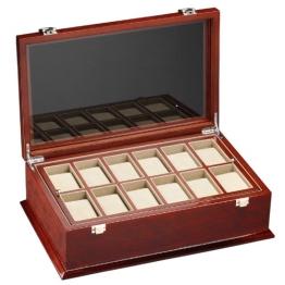 DeTomaso Trend Uhrenbox Grande braun für 18 Uhren WB-380-B - 1