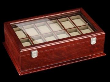 DeTomaso Trend Uhrenbox Grande braun für 18 Uhren WB-380-B - 2
