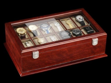 DeTomaso Trend Uhrenbox Grande braun für 18 Uhren WB-380-B - 3