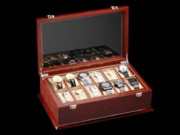 DeTomaso Trend Uhrenbox Grande braun für 18 Uhren WB-380-B - 4