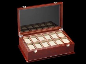 DeTomaso Trend Uhrenbox Grande braun für 18 Uhren WB-380-B - 5