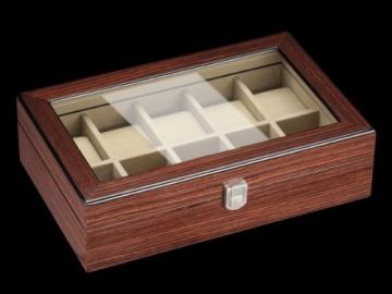 DeTomaso Trend Uhrenbox Mahagoni braun für 10 Uhren W-053-B - 2