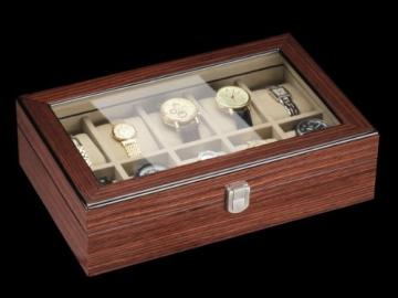 DeTomaso Trend Uhrenbox Mahagoni braun für 10 Uhren W-053-B - 3