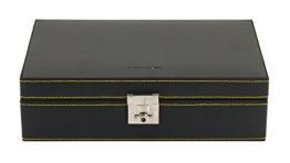 Friedrich|23 Uhrenkasten für 10 Uhren Leder Schwarz 26121-2 - 1