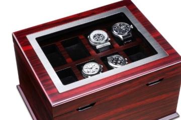 Hermann Jäckle Starnberg Uhrenbox für 16 Uhren J16B-MHG mahagoni - 4