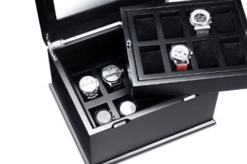 Hermann Jäckle Starnberg Uhrenbox für 16 Uhren J16B-SE schwarz - 3