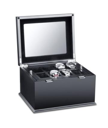 Hermann Jäckle Starnberg Uhrenbox für 16 Uhren J16B-SE schwarz - 4