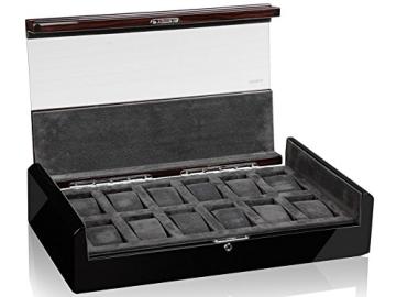 MODALO Imperia Uhrenbox für 12 Uhren MODELL 2014 schwarz/ makassar - 3