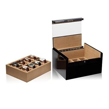 Modalo Imperia Uhrenboxen für 16 Uhren in carbon 701682 - 1