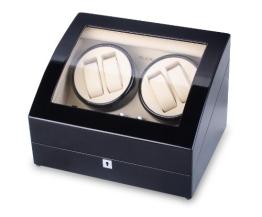 Modalo Timeless Uhrenbeweger für 4 Automatikuhren in schwarz beige  102012 - 1
