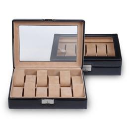 Sacher Uhrenbox für 12 Uhren, Glasdeckel, echt Leder, 2119.010443 - 1