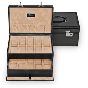 Sacher Uhrenbox für 20 Uhren, echt Leder, 3020.010443 - 1