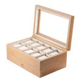 Uhrenbox 10 Bambus-Kollektion - 1