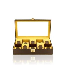 Uhrenbox Carbon 10 Gelb - 1
