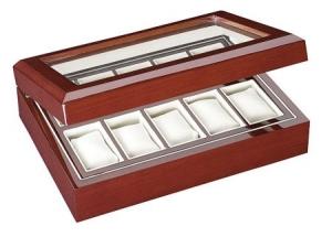 Uhrenbox für 10 Uhren - Kirschholz lackiert - 1