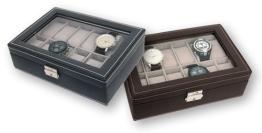 Uhrenbox für 12 Uhren, schwarz - 1