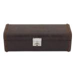 Uhrenbox Herren Cubano Leder braun für 4 Uhren zur Uhrenaufbewahrung - 2
