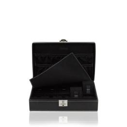 Uhrenkasten für 10 Uhren, Leder (schwarz) 29,5 x 18,5 x 7,5cm - 1