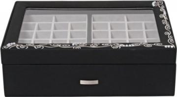 Windrose Charming Schmuckkoffer Charmbox mit Sichtfenster 7 flora - 1
