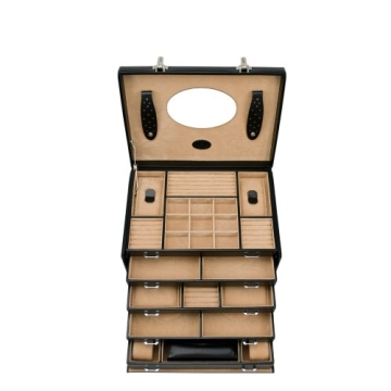 Windrose Merino Schmuck- / Uhrenkoffer 8 schwarz - 2