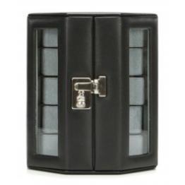Windrose Nappa Uhrenkoffer für 10 Uhren 8 schwarz - 1
