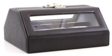 Windrose Nappa Uhrenkoffer für 10 Uhren 8 schwarz - 2