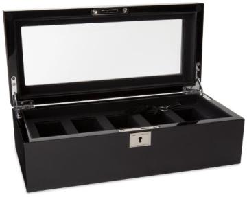 Wolf Uhrenbox Savoy 5 Schwarz - 1